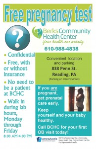 Flyer Prenatal Free pregnancy test FINAL ENGLISH